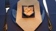 Оригами украса за маса от салфетки тип Мистерия. Украса тип Мистерия е ръчно направена от синьо – бежови салфетки. Украсата се препоръчва, като оригами украса за рожден ден, имен ден,...