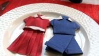 Украса тип червеното момиче и синьото момче Украса тип момиче и момче е подходяща за сватбена украса за маса, юбилей, спортни срещи, фирмени събирания и други. Украсата показва две оригами...