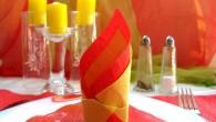 Украса за маса жълто – червен Цилиндър Украса тип Цилиндър представлява една лесна за направа и често използвана украса за маса от салфетки. Този тип украса се среща и е...
