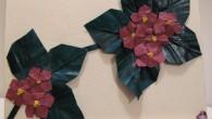 Картичка за рожден ден с оригами теменужки