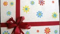 Картичка за рожден ден подарък с много цветя