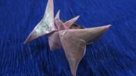 Ръчно изработен оригами пръстен Пеперуда