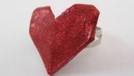 Ръчно изработе оригами пръстен Сърце