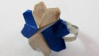 Ръчно изработен оригами пръстен Детелина