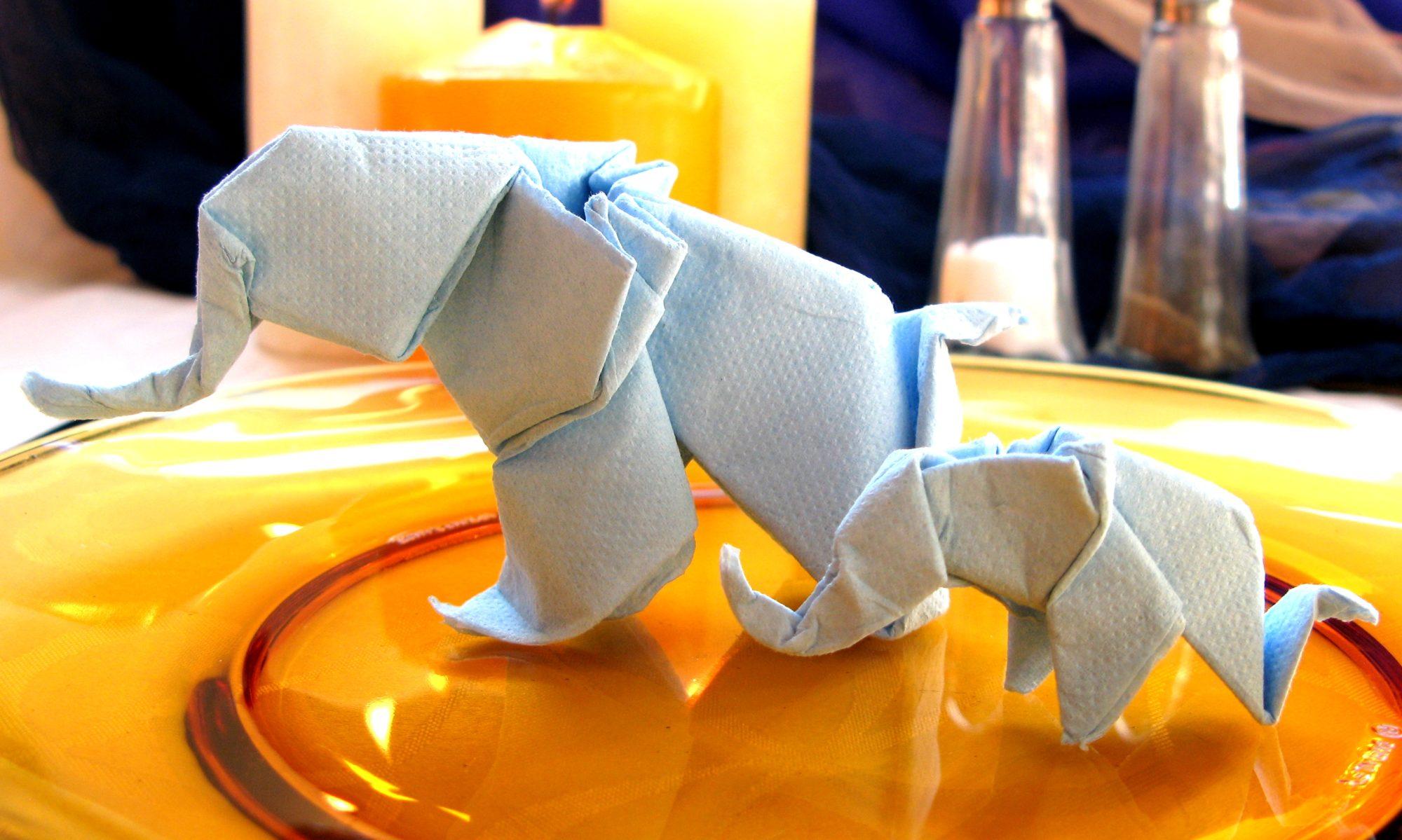 Професионална сватбена украса за маса от оригами за тържества, партита, коктейли..